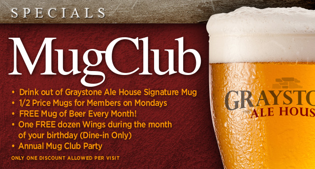 Graystone Ale House - Mug Club