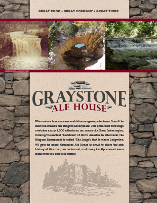 Graystone Ale House Menu - Full Menu